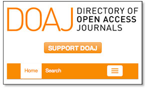 Screenshot of DOAJ website